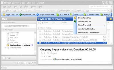Skype Skylook