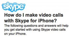 skype mobile video calls