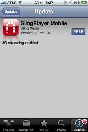 SlingPlayer Mobile iPhone 3G