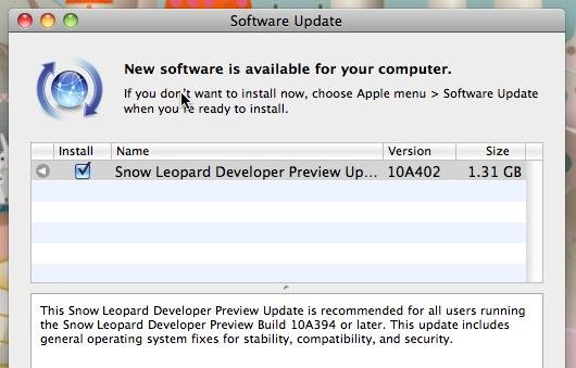 Snow Leopard 10A402