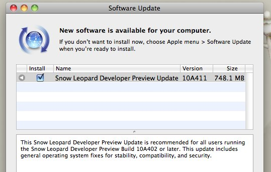 Snow Leopard 10A411