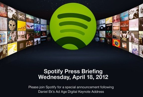 Spotify April 18 announcement