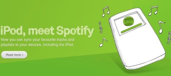 iPod Spotify sync
