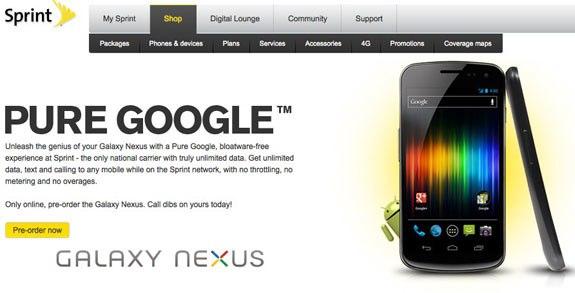 Sprint Samsung galaxy nexus