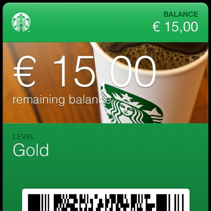 Starbucks Passbook app
