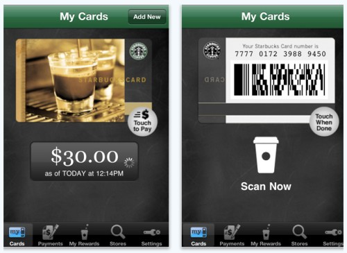 starbucks iphone payment