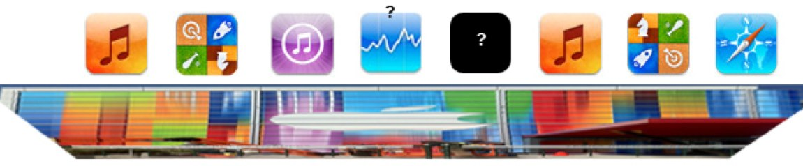 Stretched iOS app icons
