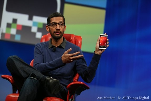 Sundar Pichai HTC One Stock Android