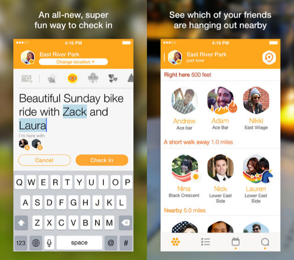 Foursquare swarm app