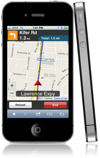 telenav html5 gps