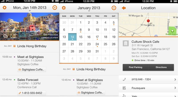 Tempo calendar app