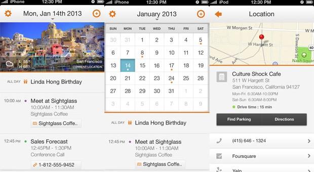 Tempo calendar app