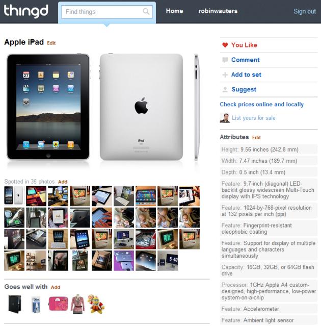 A Thingd.com listing