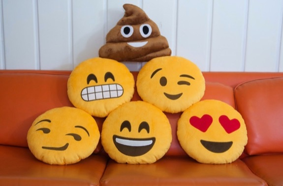 Throwboy Emoji Emoticon Pillows