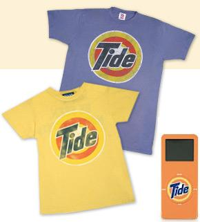 Tide shirts and iPod