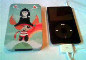 tinBot next to iPod