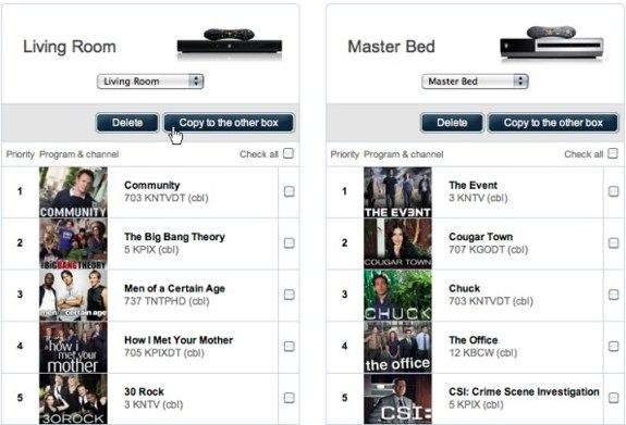 TiVo online season pass manager