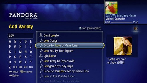 TiVo Pandora