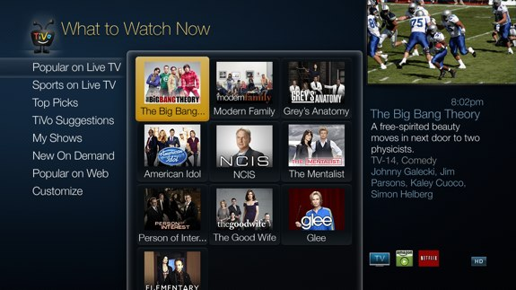 TiVo Roamio What to Watch Now