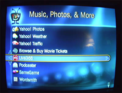 TiVo HME Beta Screens