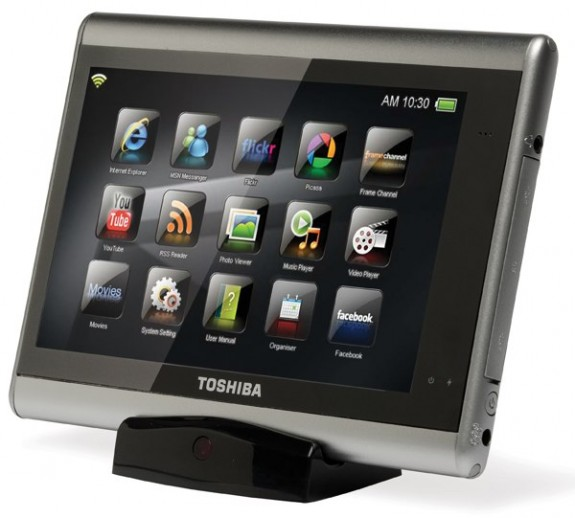 Toshiba's JournE touch tablet