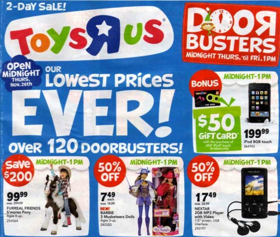 Toys R Us Black Friday 2009 ad