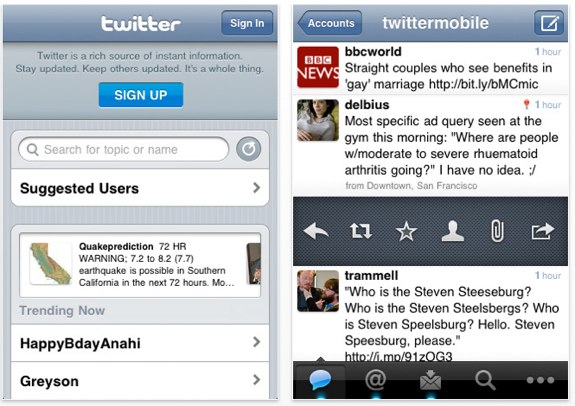 Twitter iPhone Tweetie 3.0