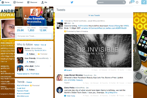 Twitter flat redesign