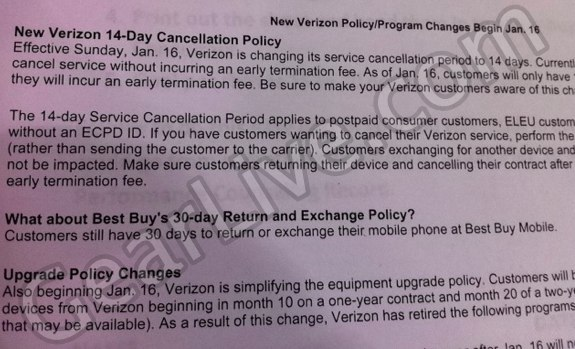 verizon iphone policy changes
