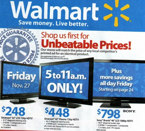 Walmart Black Friday 2009 ad