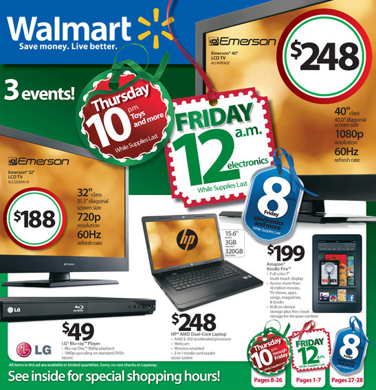 Walmart Black Friday 2011 ad