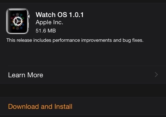 Apple Watch OS 1.0.1