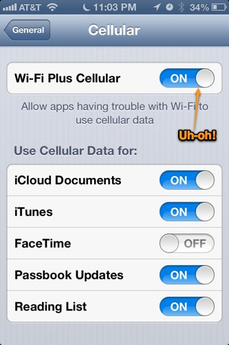 Wi-Fi Plus Cellular
