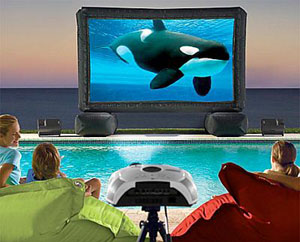 FrontGate Inflatable Home Theater