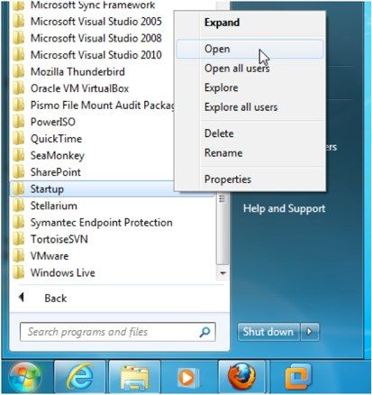 Windows 8 startup folder
