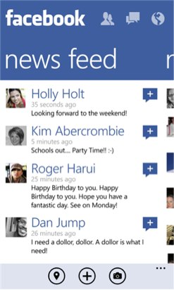 Windows Phone 8 Facebook