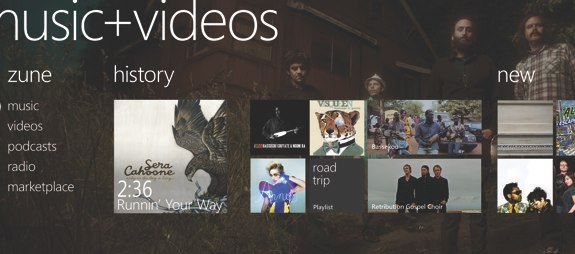 windows phone 7 zune music video hub