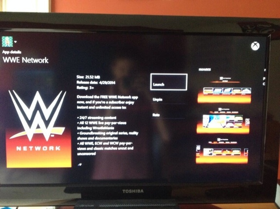 WWE Network on Xbox One