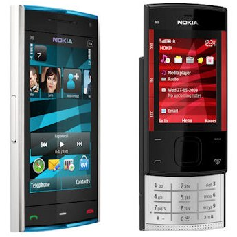 Nokia XpressMusic X6 and X3