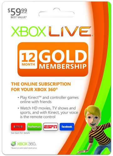 Xbox Live 12 month deal