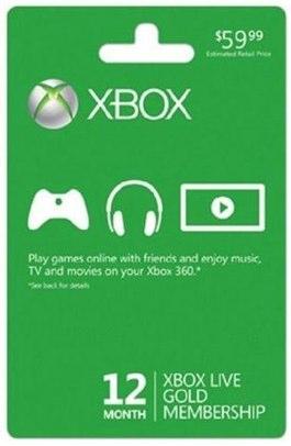 Xbox Live Gold free ebay