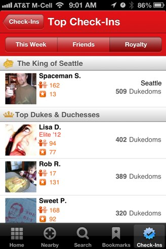 Yelp check-in ios 6 maps