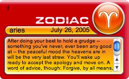 Zodiac Widget