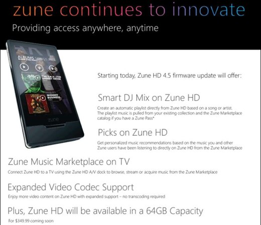 Zune 4.5 Update