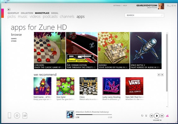 Zune HD Games