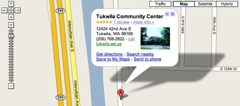 Tukwila Community Center Directions