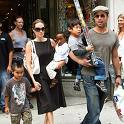 The Clan: Angelina Jolie (pregnant), Brad Pitt and children Pax, Zahara, Maddox