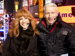 Kathy Griffin and Anderson Cooper in 2011