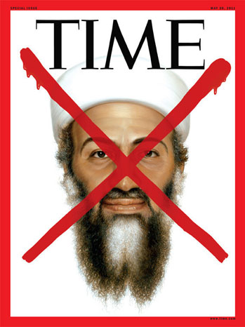 Time magazine - Osama bin Ladin red X