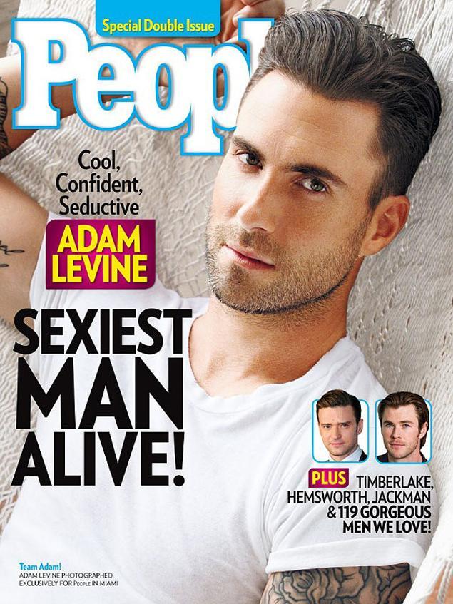 Adam Levine as People's Sexiest Man Alive